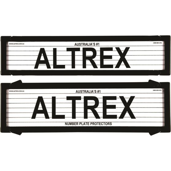 Altrex Number Plate Protector - 6 Figure Deluxe With Lines 6LP, , scaau_hi-res