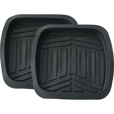 Ridge Ryder Deep Dish Car Floor Mats - Black, Rear Pair, , scaau_hi-res