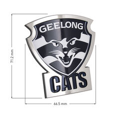 Geelong AFL Supporter Logo - 3D Chrome Finish, , scaau_hi-res