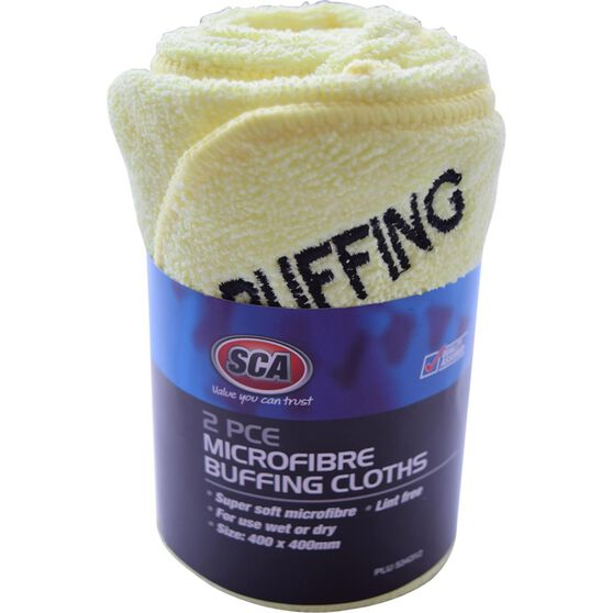 SCA Microfibre Buffing Cloths - 2 Pack, , scaau_hi-res
