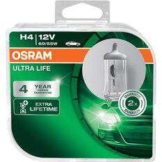 Osram Ultra Life Headlight Globe - 12V, H4, 60/55W, , scaau_hi-res