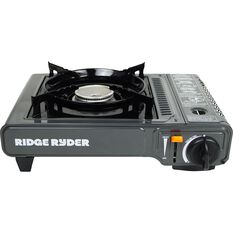 Ridge Ryder Butane Stove - Single Burner, Dual Safety Cut Off, , scaau_hi-res
