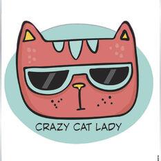 Sticker Crazy Cat Lady SH2163, , scaau_hi-res