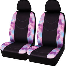 SCA Tie-Dye Seat Covers Black/Multi Adjustable Headrests Size 30 Airbag Compatible, , scaau_hi-res