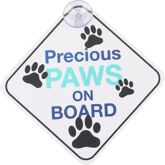 Cabin Crew Pets Window Sign - Precious Paws On Board, , scaau_hi-res