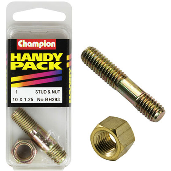 Champion Manifold Stud - M10 X 41, BH293, Handy Pack, , scaau_hi-res