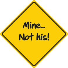 Car Sign - Mine not His, Yellow, , scaau_hi-res