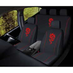 SCA Dragon Seat Cover Pack - Red, Adjustable Headrests, Size 30 and 06H, Airbag Compatible, , scaau_hi-res