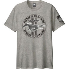 Mustang Men's T-Shirt Grey, , scaau_hi-res