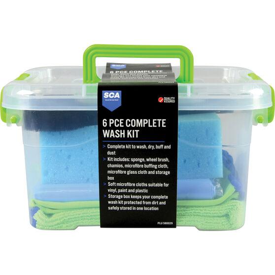 SCA Complete Microfibre Wash Kit - 6 Piece, , scaau_hi-res