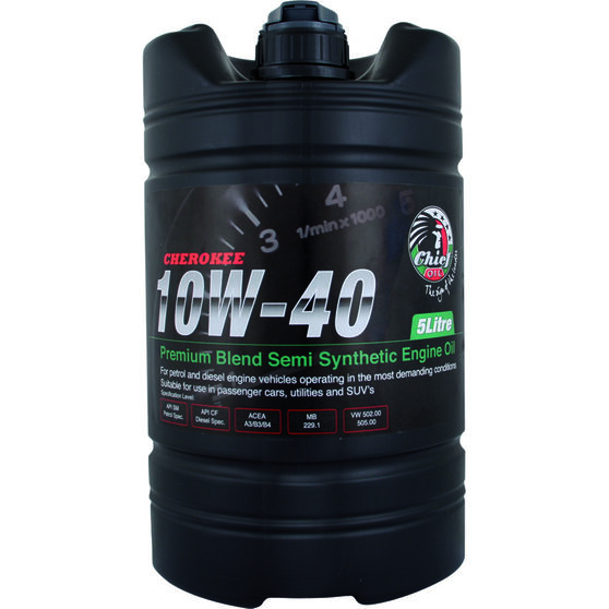 Chief Cherokee Engine Oil - 10W-40 5 Litre, , scaau_hi-res