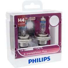 Philips Headlight Globe, X-tremeVision - H4, 60 / 55W, , scaau_hi-res