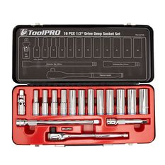 ToolPRO Socket Set - 1 / 2 inch Drive, Metric, 16 Piece, , scaau_hi-res