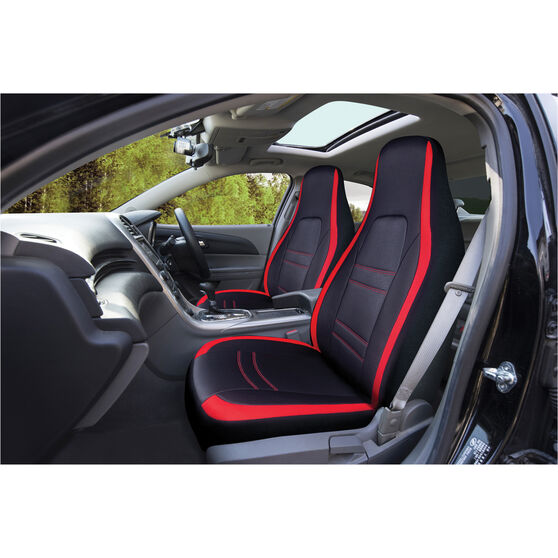 SCA Racing Seat Covers Front Pair Size 60 Black/Red, , scaau_hi-res