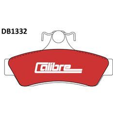 Calibre Disc Brake Pads - DB1332CAL, , scaau_hi-res