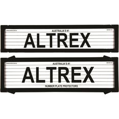 Altrex Number Plate Protector - 6 Figure, Deluxe, With Lines, 6LP, , scaau_hi-res