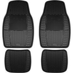 ArmorAll Car Floor Mats Rubber Black Set of 4, , scaau_hi-res