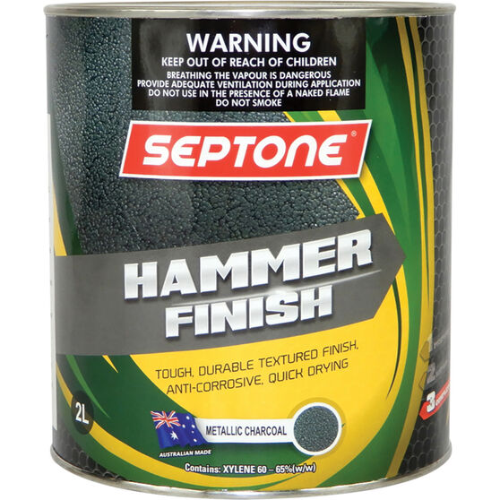 Septone Paint Hammer Finish - Charcoal, 2 Litre, , scaau_hi-res