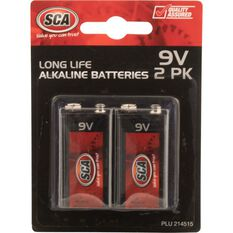 SCA Alkaline Batteries - 9V, 2 Pack, , scaau_hi-res
