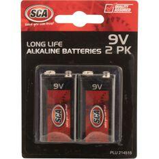 SCA Alkaline Batteries - 9V, 2 Pack, , scaau_hi-res