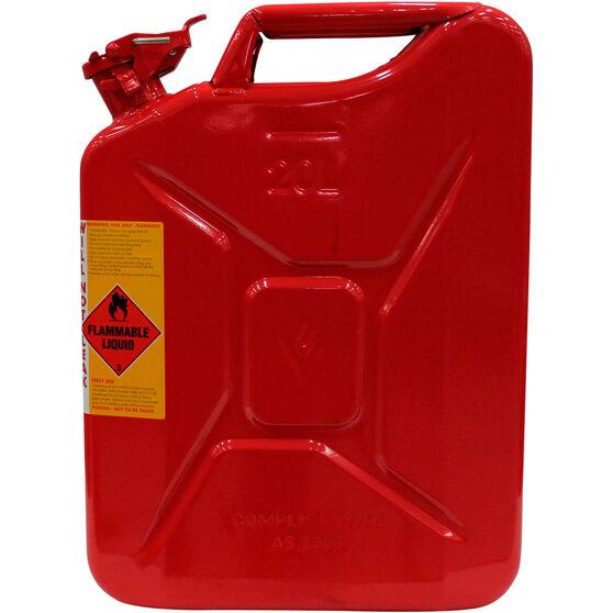Metal Jerry Can - Petrol, 20 Litre, , scaau_hi-res