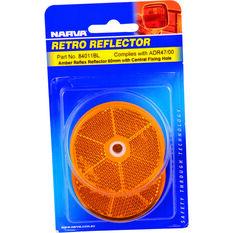 Narva Reflector - Amber, 60mm, Round, 2 Pack, , scaau_hi-res