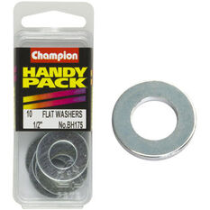 Champion Flat Steel Washers - 1 / 2inch, BH175, Handy Pack, , scaau_hi-res