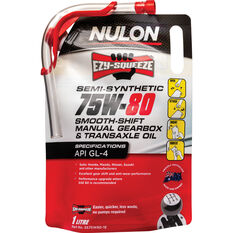 Nulon EZY-SQUEEZE Smooth Shift Manual Gearbox & Transaxle Oil 75W-80 1 Litre, , scaau_hi-res