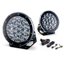 Ridge Ryder 180mm LED Driving Lights 87W with harness, , scaau_hi-res