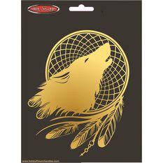 Sticker Golden Wolf Dream Catcher CH887, , scaau_hi-res