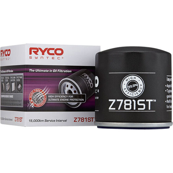 Ryco Syntec Oil Filter (Interchangeable With Z781) - Z781ST, , scaau_hi-res