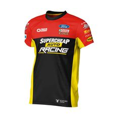 Supercheap Auto Racing Men's 2020 Team T-Shirt, Black, scaau_hi-res