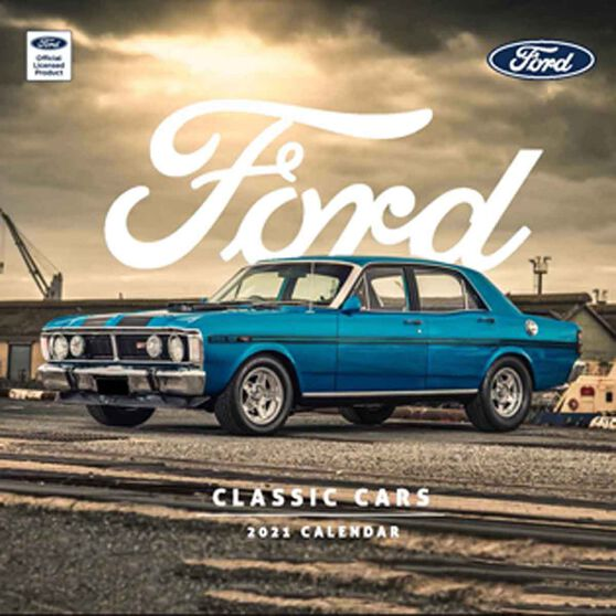 Calendar Ford Classic Cars Square 2021, , scaau_hi-res
