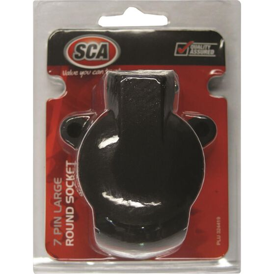 SCA Trailer Socket, Plastic - Large Round, 7 Pin, , scaau_hi-res