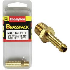 Champion Male Hose Barb - 3 / 8inch X 1 / 8inch, Brass, , scaau_hi-res