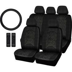 SCA Metallic Stitch Velour 5PC Seat Cover Pack, , scaau_hi-res
