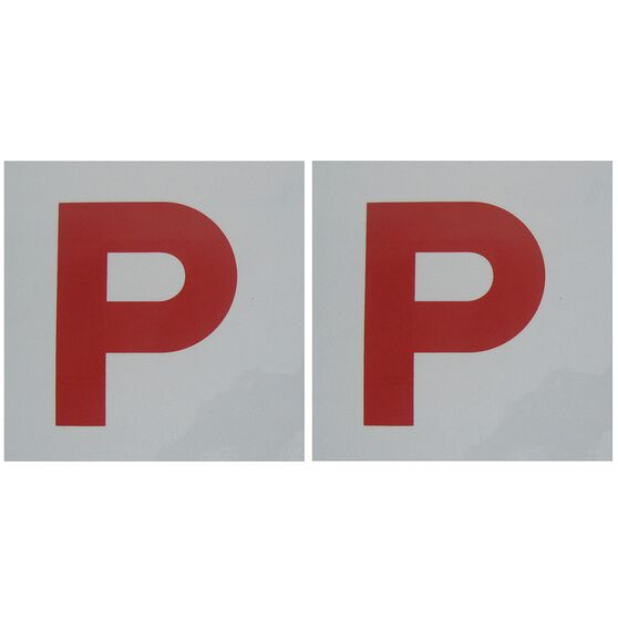 SCA P Plate - Magnetic, Red, NSW/ACT/QLD/TAS/NT,2 Pack, , scaau_hi-res