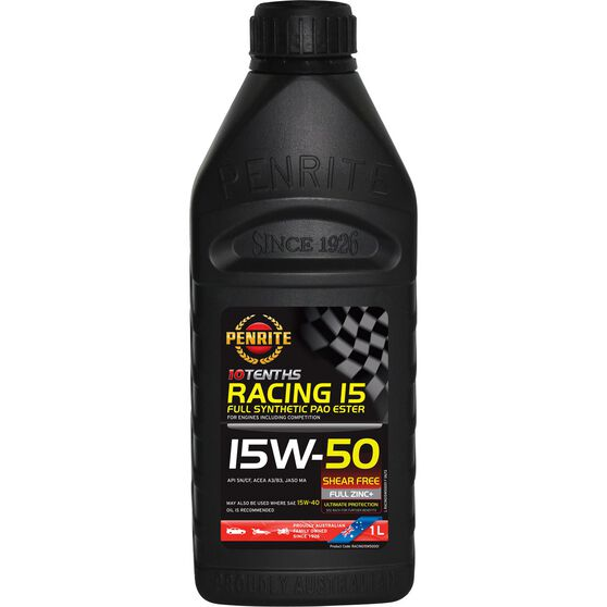 Penrite 10 Tenths Racing 15 Engine Oil - 15W-50 1 Litre, , scaau_hi-res