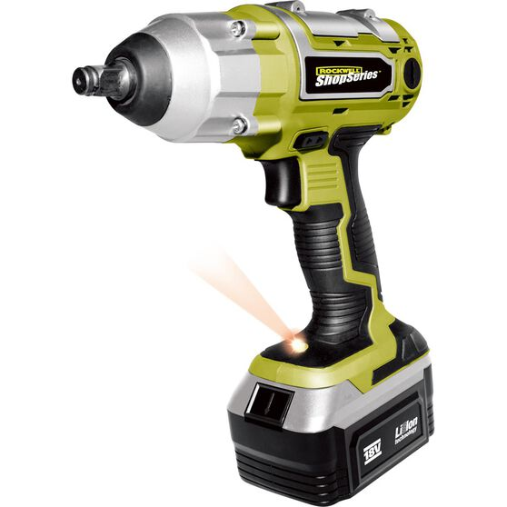 Rockwell ShopSeries Cordless Impact Wrench - 1 / 2in Drive, 18V Li-Ion, , scaau_hi-res