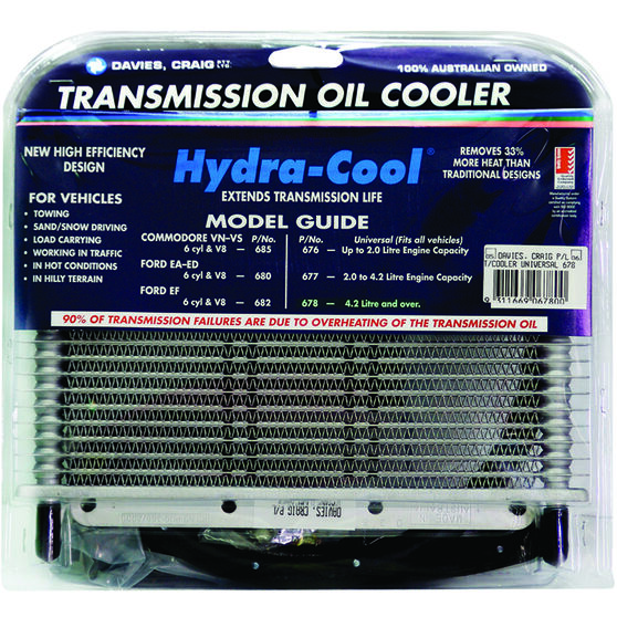 Davies Craig Hydra-Cool Transmission Oil Cooler - Universal, 8 Cylinder, , scaau_hi-res