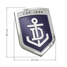Freemantle AFL Supporter Logo - 3D Chrome Finish, , scaau_hi-res
