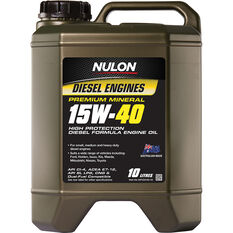 Nulon Premium Mineral High Protection Diesel Engine Oil 15W-40 10 Litres, , scaau_hi-res