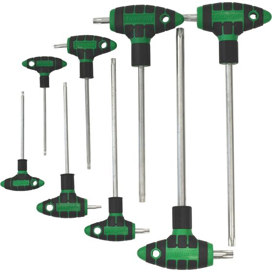 ToolPRO Hex Key Set - T-Handle, Torx, 8 Pieces, , scaau_hi-res