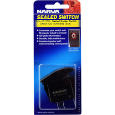 Narva Rocker Switch - Off/On, Sealed Switch, Blue LED, , scaau_hi-res