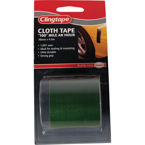 Clingtape Cloth Tape - Green, 48mm x 4.5m, , scaau_hi-res