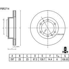 Bosch Disc Brake Rotor PBR2714, , scaau_hi-res