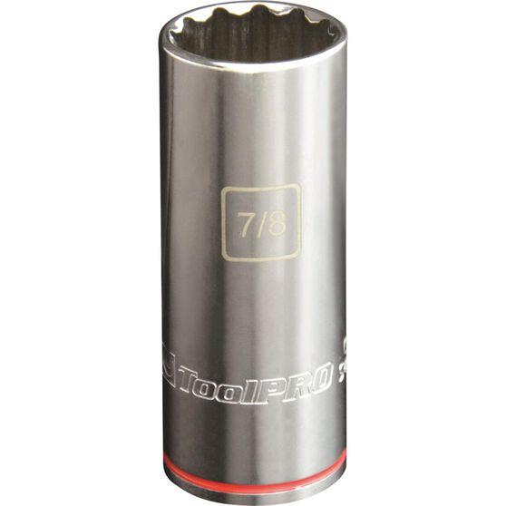 "ToolPRO Single Socket - Deep, 1/2"" Drive, 7/8"", , scaau_hi-res"