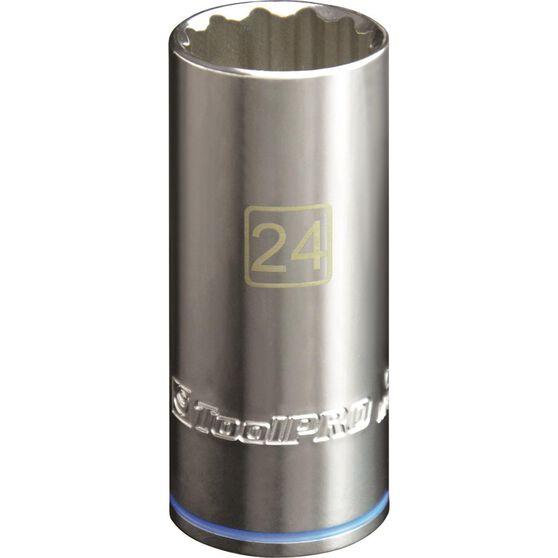 ToolPro Single Socket - Deep, 1 / 2 inch Drive, 24mm, , scaau_hi-res