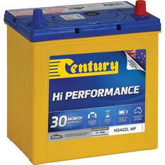 Century Hi Performance Car Battery NS40ZL MF, , scaau_hi-res