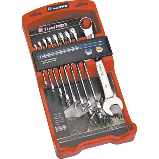 ToolPRO Spanner Set - Combination, 9 Piece, Metric, , scaau_hi-res